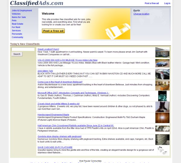 Esvon Classifieds - Featured Clients - PHP Classified Ads Software